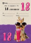 Jelly n Bean 18th Birthday Party Invitations - Pack of 20